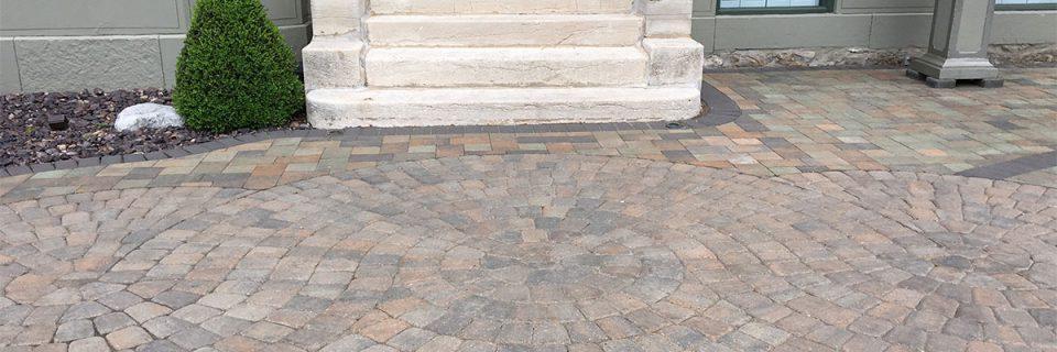 Custom Paver Designed Patio and Walkway